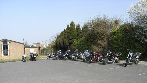 Car Park on a motor cycling meeting day